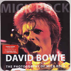 """David Bowie Starman Photography Of Mick Rock Book & Red Vinyl 7"""" Brand New"""