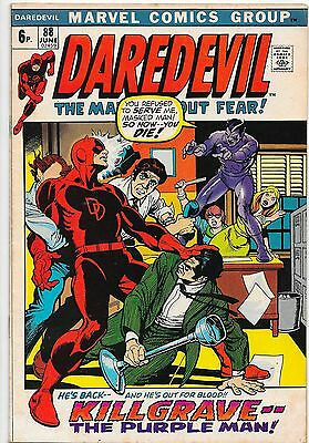 Daredevil #88 Bronze Age Marvel Killgrave The Purple Man F/VF