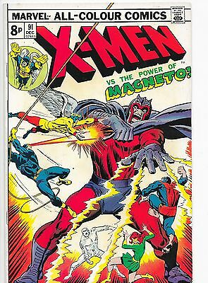 X-Men #91 Bronze Age Marvel Comics Roy Thomas Stan Lee VF+