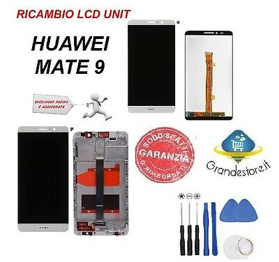 Lcd Display Huawei Mate 9 Mha-L29 Schermo Touch Screen Frame Originale Bianco