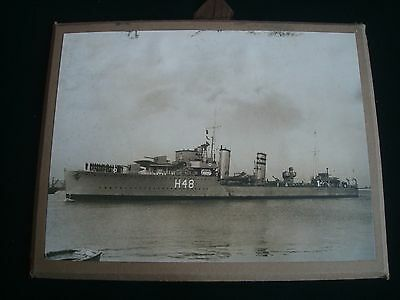 WW2 photograph Royal Navy HMS CRESCENT (H48) 8 x 6 Inches
