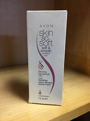 Avon Skin So Soft & Smooth Moisturising Bikini Hair Removal Cream 75Ml Total