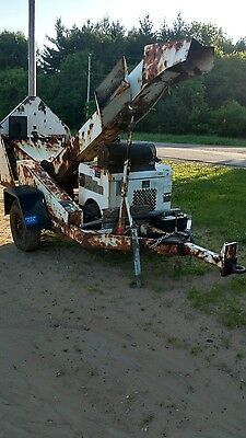 2008 Altec Wc126 Drum Brush Wood Chipper With 4 Cylinder Gas Engine