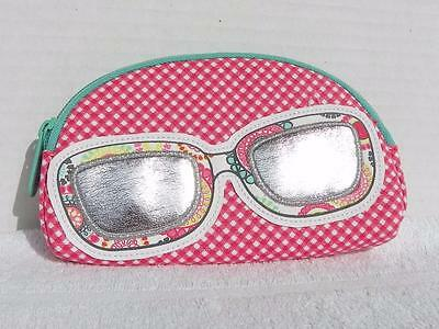 Eyeglass Case from Thirty One Pink White and Teal Excellent Condition