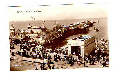 Central Pier Blackpool showing  lifeboat station Postcard posted 1941