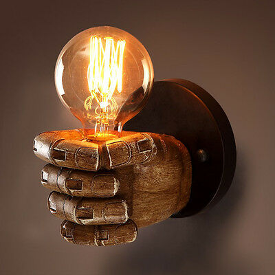 Retro 1 Light Clenched Fist Wall Light Fixture Sconce Creative Indoor Wall Lamp