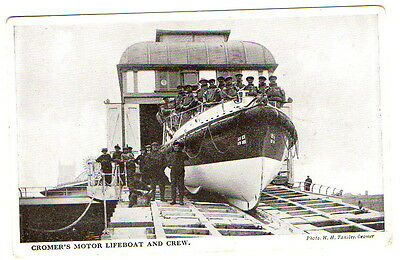 Cromer's Motor Lifeboat and Crew Postcard unposted