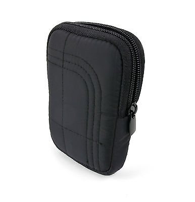 Padded Case / Pouch with Belt Loop in Black for The Beurer AS 95 Pulse