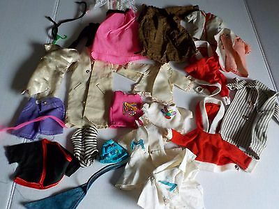 Vintage Barbie Doll and Ken Clothing Handmade and Mattel Lot