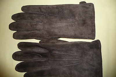 Suede Leather Gloves - Size L - Lined
