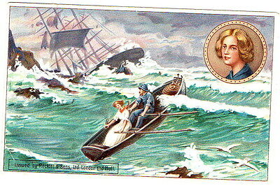 Lifeboat Grace Darling Postcard Reward card Zebra Grate Polish unposted