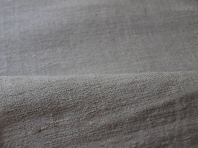 Yardage Homespun Antique HandWoven Linen Flax Vintage Fabric Natural Material