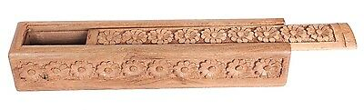 Takli Tahkli Support Spindle in hand carved Walnut box from India.