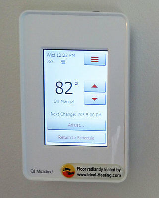 Touch screen floor heating programmable thermostat room temperature controller