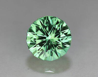 Sapphire.Lab Grown. Green Color. Round Barion Cut.11mm. 7.75cts. Super Stone