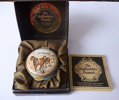 Staffordshire Enamels Old Hall Country Diary Edwardian Lady March Enamel Box Bxd