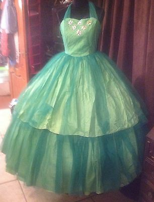 Ladies Green Ball Gown Western or any other Period Re-enactment