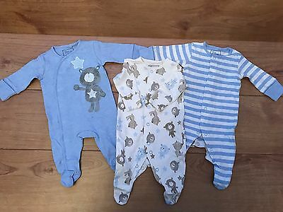 BABY BOY NEXT BUNDLE OF SLEEP SUITS / BABYGROW- Great Condition ~ 0-3 MONTHS - 6