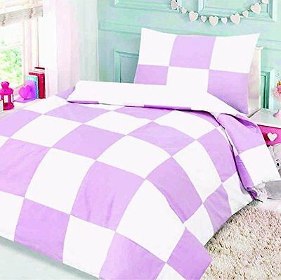 Love2Sleep COTTON RICH COT BED DUVET COVER SET : PATCHWORK PINK SQUARE