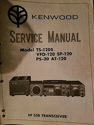 Kenwood TS-120S, VFO-120, SP-120, PS-30, AT-120, MB-100 Service Manual. OEM L@@K