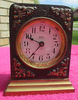 "Antique U.S.A Patents 1902-1906-1908 WESTCLOX ""Ironclad"" Alarm Clock Not Working"