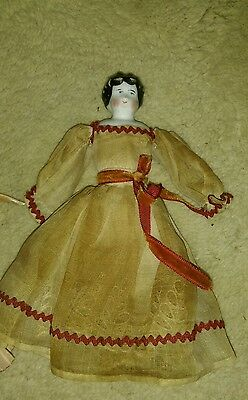 Antique China Head Doll - all original  - 7 inches