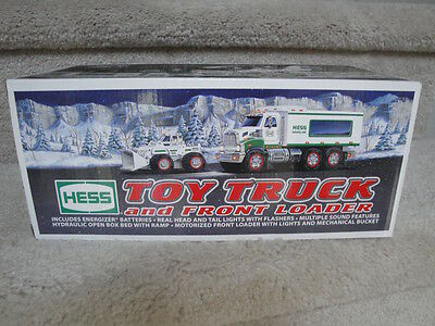 """MIB 2008 Hess Toy Truck And Front Loader Battery Operated """"WOW"""""""