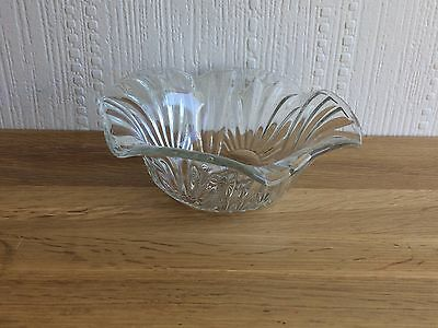 Vintage Fluted Edge Glass Bon Bon Dish