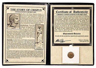 Roman Empire Bronze Nummus of Crispus (AD 316-326) Album with COA SKU47200