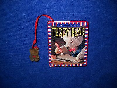 The Quotable Teddy Bear Small Hardcover Book w/ Bookmark