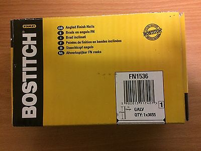 Bostitch FN1536 57mm Angled Finish Nails 15G Galv x3655