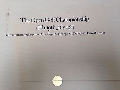 4 Commemorative Prints Of Royal St George's Golf Club Open 1981 Dennis Curran