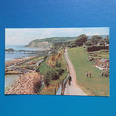 Old Postcard of The Cliff Path and Esplanade, Shanklin, Isle of Wight.