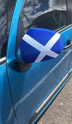PAIR of CAR WING MIRROR SOCKS FLAGS, COVERS, SCOTLAND SCOTTISH NEW £3.49 Free PP