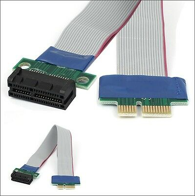 PCI-E 1X Slot Riser Extender Extension Ribbon Flex Relocate Cable FOR MOTHEROARD