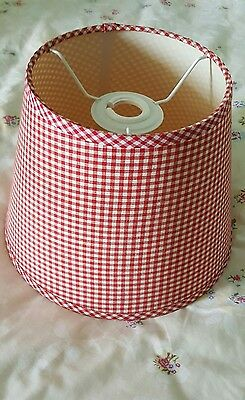 Laura Ashley Red Gingham Check Ceiling Light Shade