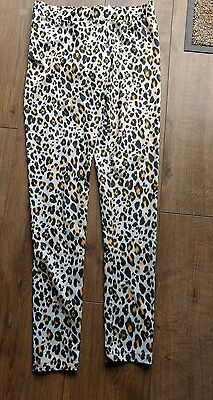 H&M stretchy leopard leggins size small