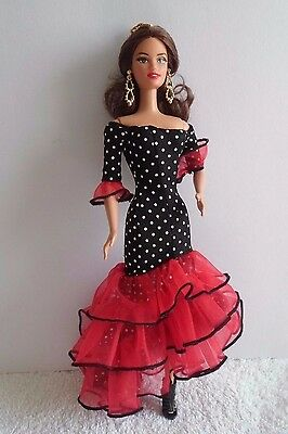 Barbie Collectors Edition 2012 Dolls Of The World Spanish Flamenco Teresa Face