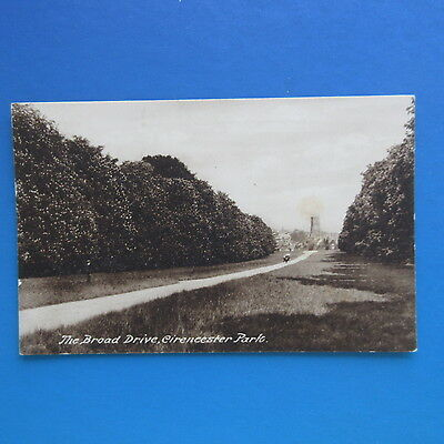 Old Postcard of The Broad Drive, Cirencester Park.