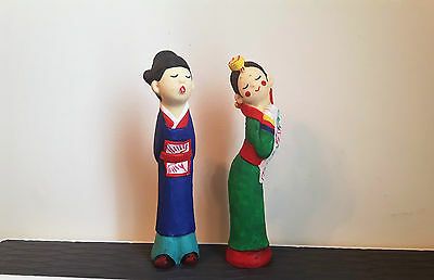 Korean Wedding Kissing Couple Ceramic Figurines