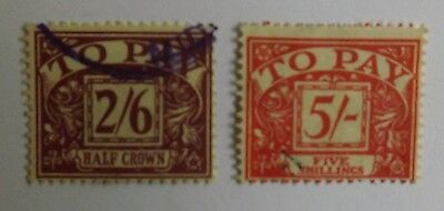 Postage Due stamps up to 5/s used