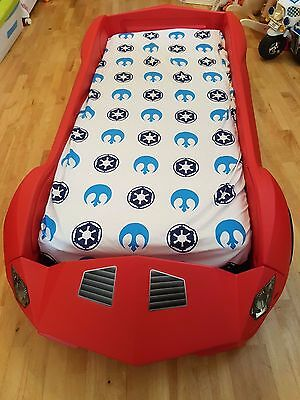 Kids Racing Car Bed Children's Toddler Junior Bed