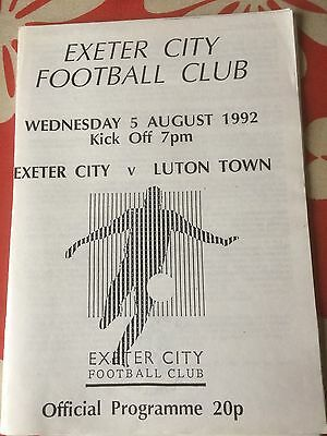 Exeter City v Luton Town Friendly 1992