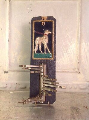 Vintage Greyhound Dog Tie Rack Wall Holder Leash Organizer 1930's? Made USA