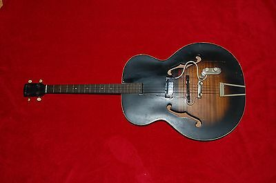 Rare Vintage Harmony Tenor Acoustic Guitar with Kent wc-16  Pickup