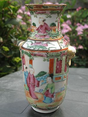 Chinese Antique Famille Rose Vase Porcelain Box with Enamel Hand Painted
