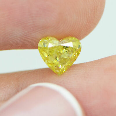 1.17 Ct Fancy Yellow Heart Shape Natural Loose Real Diamond VS Enhanced For Ring