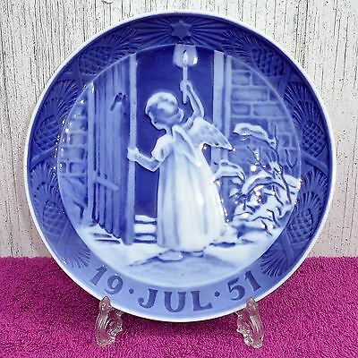 "1951 Royal Copenhagen Christmas Plate - ""Christmas Angel"" - 2nd Quality"