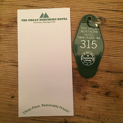 COMBO - TWIN PEAKS inspired '315' Keytag and Great Northern Notepad