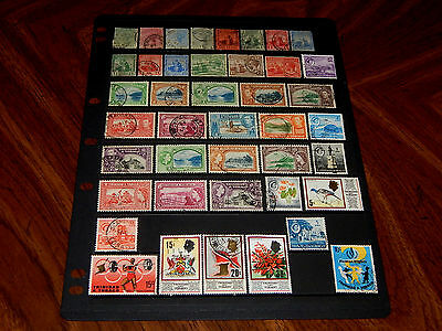 Trinidad & Tobago stamps - 42 mint hinged & used early stamps - great group !!